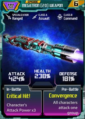 Megatron 20 Weapon