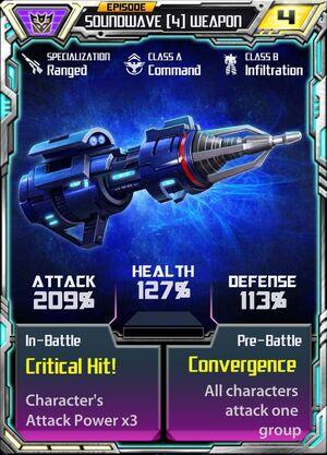 Soundwave (4) Weapon