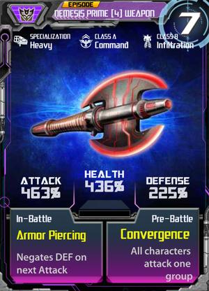 Nemesis Prime 4 Weapon