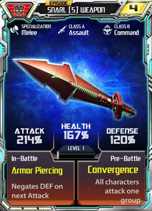 Snarl 5 Weapon