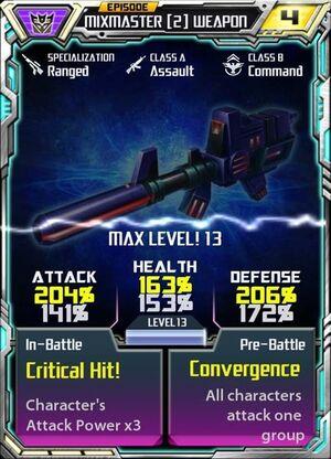 Mixmaster 2 Weapon