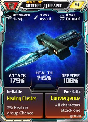 Ricochet 1 Weapon