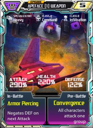 Apeface 1 Weapon
