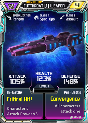 Cutthroat 1 Weapon