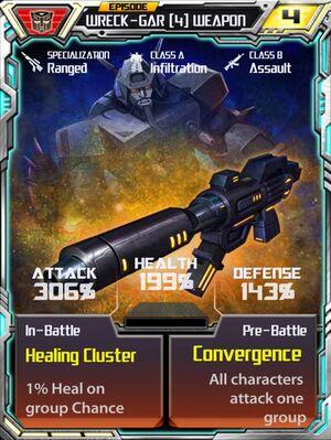 Wreck-Gar 4 Weapon