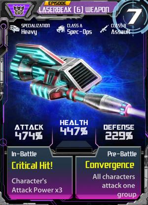 Laserbeak 6 Weapon