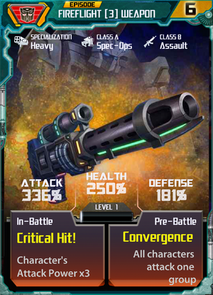 Fireflight 3 Weapon