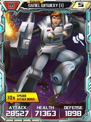 Daniel Witwicky 1 Robot