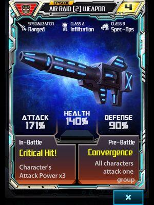 Air Raid 2 Weapon