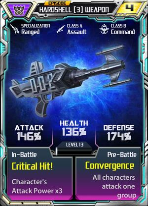Hardshell 3 Weapon