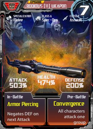 Rodimus 11 Weapon