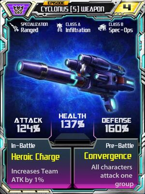 Cyclonus 5 Weapon