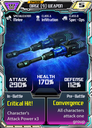 Dirge 9 Weapon