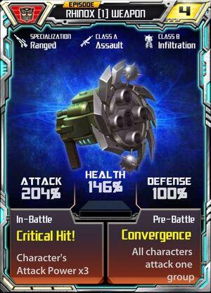 Rhinox (1) Weapon