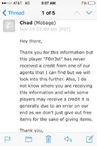 Screenshot by 10347038 - Espionage - Mobage Reply Regarding F0rr3st