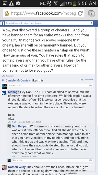 Screenshot by 11165765 - Facebook - Reason for Suspension Instead of Ban