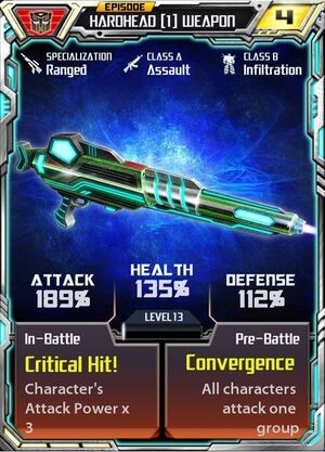 Hardhead (1) Weapon