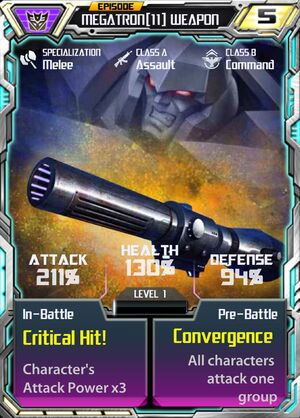 Megatron 11 Weapon