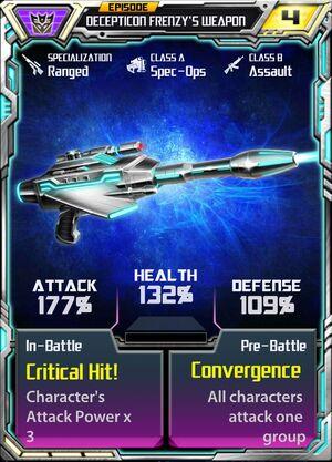 Decepticon Frenzy 1 Weapon