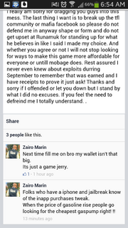 Screenshot by 11165765 - Facebook Post by Jerry Isham - Ban Acknowledgement - 2