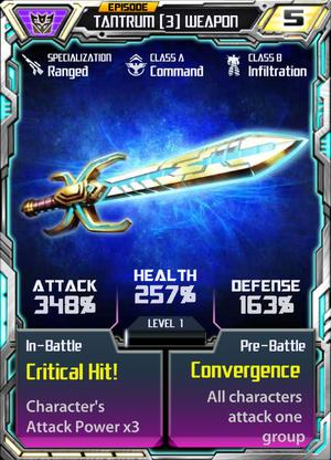 Tantrum 3 Weapon