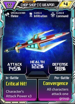 Chop Shop 1 Weapon