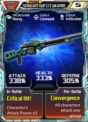 Sergeant Kup 7 Weapon