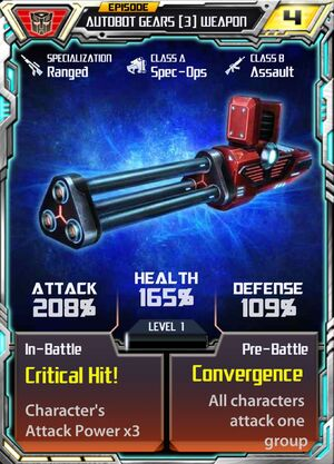 Autobot Gears 3 Weapon