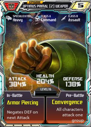 Optimus Primal 2 Weapon