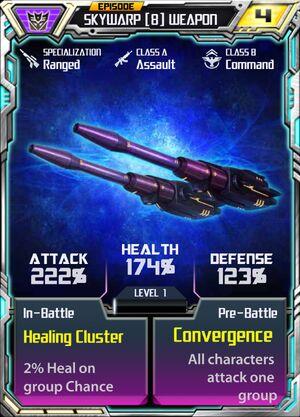 Skywarp 8 Weapon