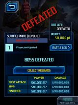 Screenshot by 13129747 - The War Within - Sentinel Prime Boss Level 8 - Defeated with 3 Battle Cubes