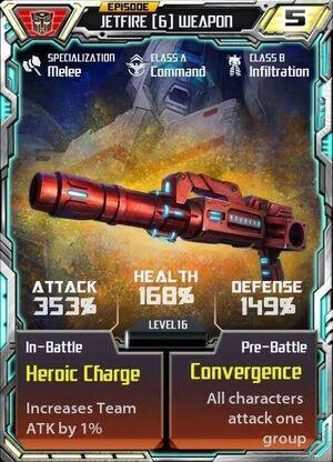 Jetfire 6 Weapon