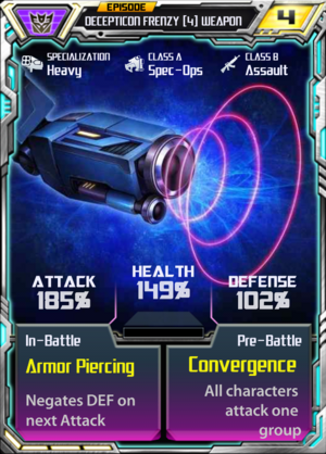 Decepticon Frenzy 4 Weapon