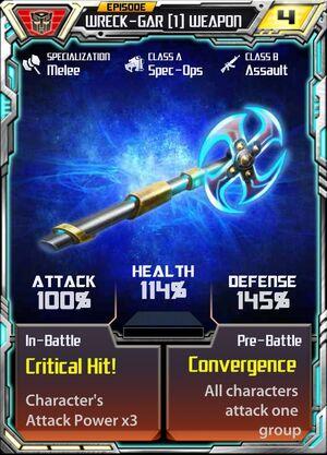 Wreck-Gar (1) Weapon