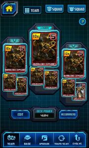 Image by 11165765 - Call of the Primitives - Facebook - Screenshot by Seckin Mert - 8 Bumblebee Raid Cards at Max Trans-Scan Stats