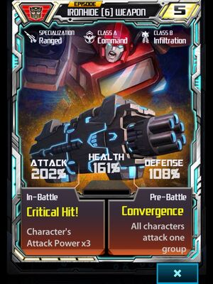 Ironhide (6) Weapon