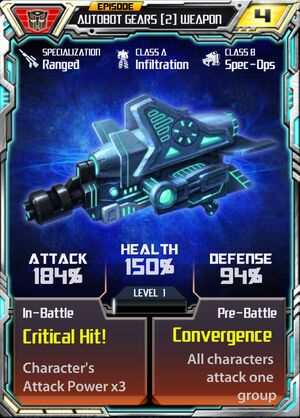 Autobot Gears 2 Weapon