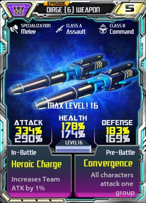 Dirge 6 Weapon