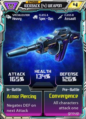 Kickback 4 Weapon