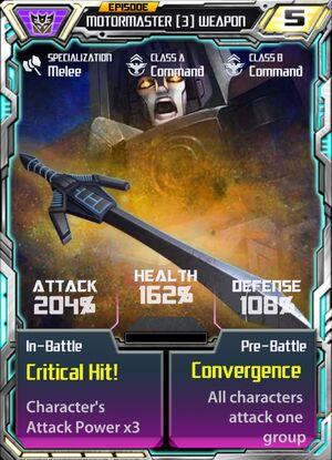 Motormaster 3 Weapon