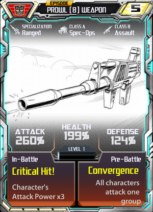 Prowl 8 Weapon