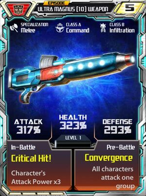 Ultra Magnus 10 Weapon