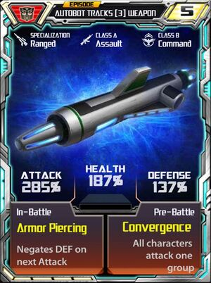 Autobot Tracks 3 Weapon