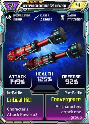 Decepticon Rumble 2 Weapon