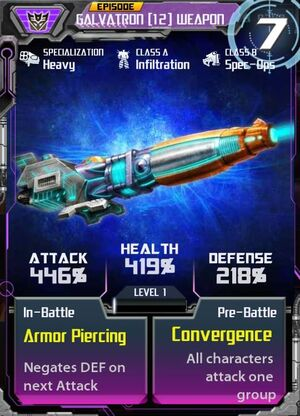 Galvatron 12 Weapon