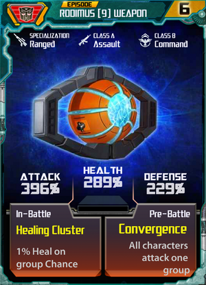 Rodimus 9 Weapon