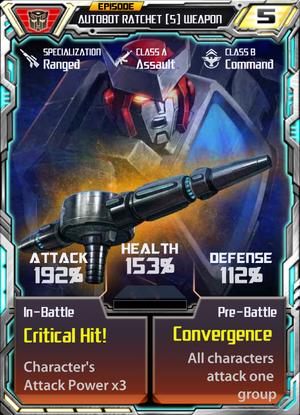 Autobot Ratchet 5 Weapon