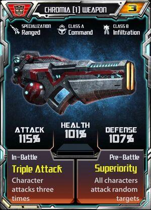 Chromia 1 Weapon