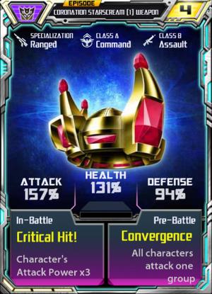Coronation Starscream 1 Weapon