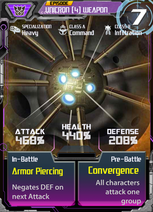 Unicron 4 Weapon